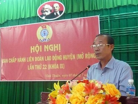 1.Đc Nguyễn Minh Dũng PCT LĐLĐ tỉnh phát biểu chỉ đạo HN