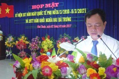 LĐLĐ huyện Vĩnh Thuận phối hợp tổ chức họp mặt kỷ niệm 107 năm ngày Quốc tế phụ nữ 8/3 (8/3/1910-8/3/2017)