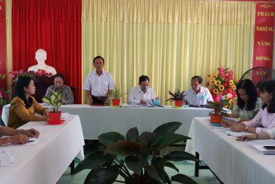Đoàn đánh giá ngoài Sở GD&ĐT kiên giang đến đánh giá sơ bộ tại trường tiểu học Vĩnh Bình Bắc 4
