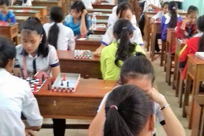 Giải cờ vua học sinh phổ thông cấp huyện năm học 2016-2017