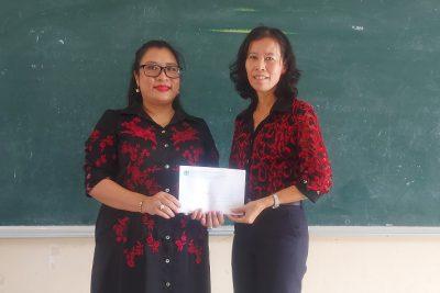 Sở Thông tin và Truyền thông Kiên Giang trao 20 suất học bổng cho trường tiểu học Võ Văn Kiệt