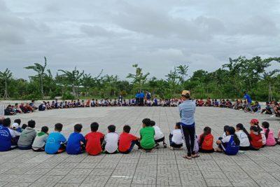 Hội đồng đội thị trấn Vĩnh Thuận tổ chức sân chơi thiếu nhi hè 2019