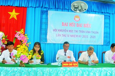 Hội Khuyến học Thị trấn Vĩnh Thuận tổ chức Đại hội nhiệm kỳ IV (2010-2015)