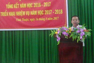 Phòng Giáo dục-Đào tạo Vĩnh Thuận tổng kết năm học 2016-2017