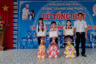 Trường tiểu học Vĩnh Phong 4 tổng kết năm học 2018-2019