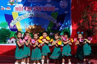 Trường tiểu học Võ Văn Kiệt tổ chức hội thi văn nghệ chào mừng 36 năm ngày nhà giáo Việt Nam