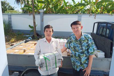 Hội Khuyến học huyện Vĩnh Thuận hỗ trợ khai giảng năm học mới