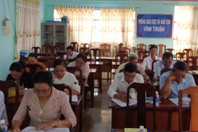 Hội Khuyến học huyện Vĩnh Thuận tổ chức Hội nghị Tổng kết hoạt động năm 2020
