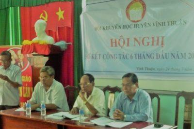 HKH huyện Vĩnh Thuận Sơ kết hoạt động 6 tháng đầu năm 2017