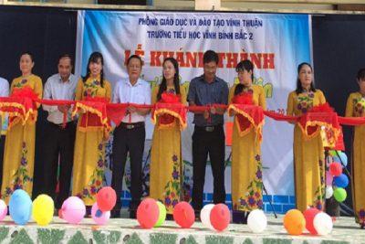 Trường Tiểu học Vĩnh Bình Bắc 2 khánh thành thư viện thân thiện