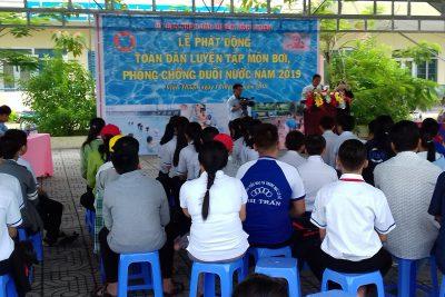 Vĩnh Thuận phát động toàn dân tập luyện môn bơi  phòng, chống đuối nước và tổ chức hoạt động thể thao trường học năm 2019