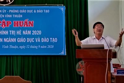 Vĩnh Thuận tổ chức tập huấn bồi dưỡng chính trị cho giáo viên năm 2020