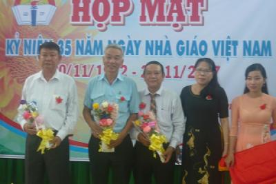Phòng Giáo dục và Đào tạo Vĩnh Thuận tổ chức họp mặt Ngày nhà giáo Việt Nam 20/11