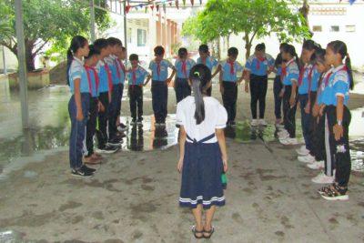 Nâng cao năng lực thực hiện đội hình – nghi lễ chào cờ theo nghi thức Đội TNTP Hồ Chí Minh