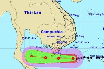 Lịch trực bão Tembin