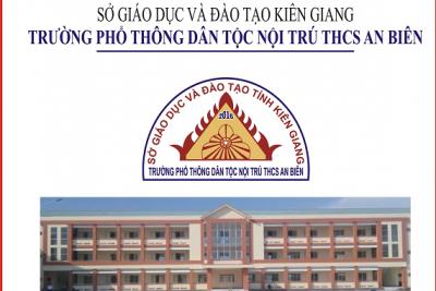 Thông báo tuyển sinh của trường phổ thông dân tộc nội trú THCS An Biên