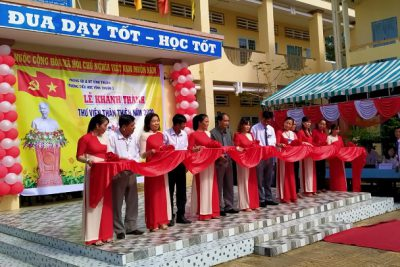 Trường tiểu học Vĩnh Thuận 1 tổ chức khánh thành thư viện và họp mặt kỷ niệm 38 năm ngày nhà giáo Việt Nam 20/11