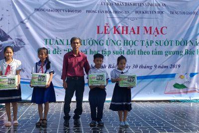 """Huyện Vĩnh Thuận tổ chức Khai mạc """"Tuần lễ hưởng ứng học tập suốt đời"""" năm 2019"""
